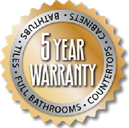 5-year warranty on all refinishing work from The Tub Guy.